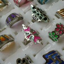 3pcs wholesale Jewelry New Enamel glaze stainless steel Rings free shipping XFP