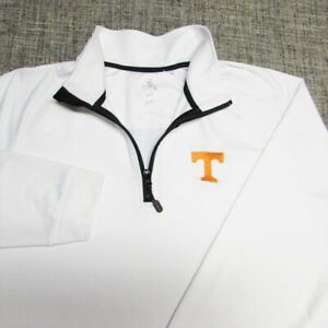 CUTTER & BUCK CBUK POLY SPANDEX  1/4 ZIP GOLF PULLOVER--L--TENNESSEE --SPOTLESS!