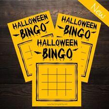 Halloween Bingo - Orange Bats - New Kids Party Activity Game - 20 Player