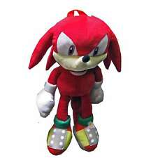 Sonic the Hedgehog Doll Plush Backpack - Knuckles Red (20 Inch), New