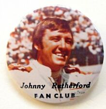 """scarce JOHNNY RUTHERFORD FAN CLUB color 2.5"""" pinback button CAR RACING a2"""