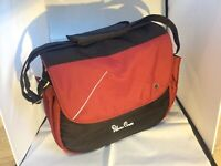 SILVER Cross Vintage Red Changing Bag Used Bag Sewn on seem