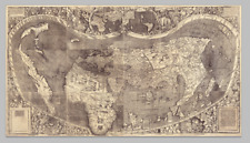 Mapa mundo (metodo tradicional-Ptolomeo) con otras tierras Américo Vespucio 1507