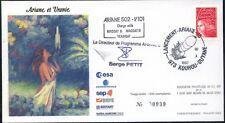 RARE SPACE FRANCE KOUROU ARIANE V 101 ** ARIANESPACE ESA SEP COSMOS 1997 SIGNED