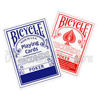 2 Decks x Bicycle SECONDS playing cards Red or Blue Poker Magic tricks Standard