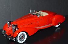 Danbury Mint 1/24 Die Cast Car 1934 Packard V-12 LeBaron Speedster Red Beige