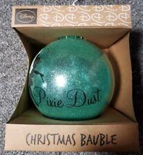 New Disney Tinker Bell Pixie Dust Teal Glittery Christmas Bauble Primark