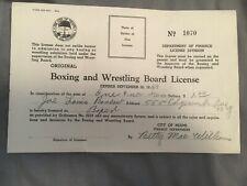 Rare joe louis boxing licence