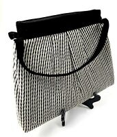 Vintage Houndstooth Bag Purse Shoulder Bag Black White
