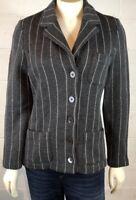 Lauren Ralph Lauren Women's Sweater Blazer Size P/P Gray Career 100% Merino Wool