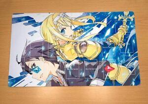 F3465# Anime CCG Playmat Yugioh Playmat Sword Art Online Alicitizon Kirito Alice