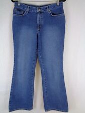 New York NY Womens Jeans Low Rise Flare Size 10 Women's Blue Pants 31x30