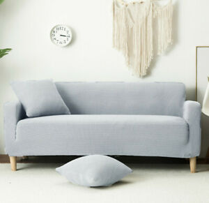 Universal Non-slip Elastic Stretch SoildColor Washable Slipcover Protector Couch