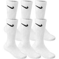 3 Pair LOT NIKE White Socks CREW Size M - Shoe size 6-8   Men's  Women