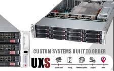 UXS Server Direct Attached Storage DAS 12 Bay FREENAS X9DRI-LN4F LSI ZFS 6GB/S