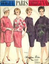 1960 Vintage Vogue Sewing Pattern B34 Suit Coat Jacket Skirt (1380) Dior