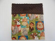 Bassinet Moses Basket Pram Capsule Baby Blanket Jungle Babies 96cm x77cm Minkee