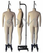 Professional Male Full Body Mannequin Dress Form, W/Arms Size 36 (wmcs 36+2)