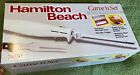 Hamilton Beach 74250 Carve 'n Set Electric Knife with Case, White, New