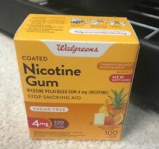 Walgreens Nicotine Gum 4mg 100 Pieces, Fruit Freeze Flavor Exp 11/2021