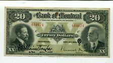 Canada Bank Of Montreal 20 Dollars Xf 1914 Large Note Nr 165.00