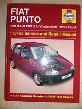 FIAT PUNTO Inc SELECTA 55 S & SX AUTO HAYNES SERVICE REPAIR MANUAL 1994-1999 L-V