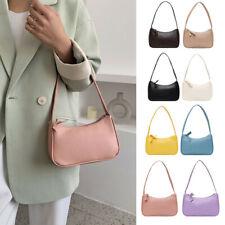 Fashion Women Small Shoulder Bags PU Leather Casual Underarm Handbag Totes Purse