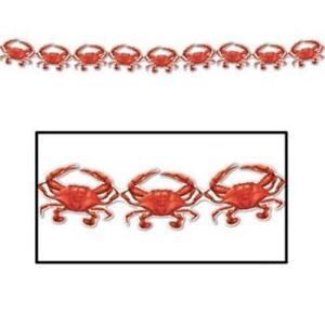 Crab Streamer Nautical Cruise Party Birthday Decoration