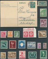 Lot Stamp Germany Bohemia Bulgaria WWII Hitler Snake Revenue Rockets Card Faults
