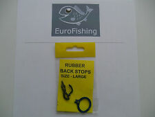 CARP / PIKE / SEA FISHING: 2 x packs RUBBER BACK STOPS LARGE