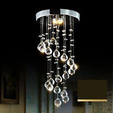 220V 5W Modern Spiral Crystal Ceiling Light Pendant Lamp Chandelier Home Hotel