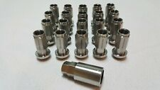 Rival Autosport Titanium (Gr.5 Ti-6Al4v) Open-End Wheel Nuts 50MM M12x1.25 20pc