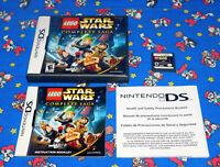 LEGO Star Wars The Complete Saga Nintendo DS Original Release Complete NES CIB