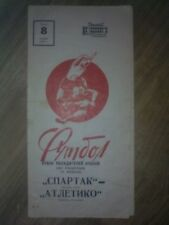 Programme Spartak Moscow USSR - Atletico Madrid Spain 1972-1973 Cup Winners Cup