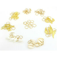 50pcs/Set Hair Clips Shell Leaf Wing Snowflake Star Cross Hair Braid Accessories
