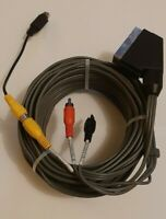 9m RCA TO SCART CABLE  AUDIO/VIDEO 9 METRE (extra long) with 1 s-video adapter