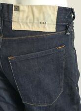 Gap 1969 Morrison Straight Jeans Button Fly Dark Foncee Resin Wash sz 30 X 30