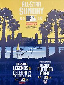 2016 MLB ALL STAR FUTURES GAME PROGRAM SIGNED DETROIT TIGERS JEIMER CANDELARIO
