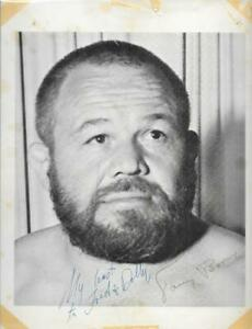 Tough Tony Borne Portland wrestling legend rare signed 8x11 photo autograph