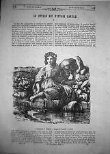 1846 stampa-Innocenza Fedeltà di CONSALVO CARELLI lito Poliorama