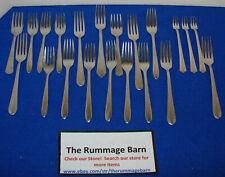 Lot vintage Capri World - mixed - Tableware Flatware - See Pattern - forks