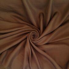 Chocolate 'Springfield'  Canvas Weave Curtain Fabric Material Per Metre