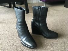 AUTH ROBERT CLERGERIE WEDGE PLATFORM ANKLE BOOTS Sz 6 US