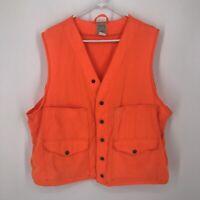 Vintage Filson Blaze Orange Hunting Shooting Safety Field Vest Size 46 USA Made
