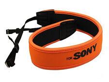 Weight Reducing Shoulder Neck Strap for Sony DSLR Anti-Slip Orange Neoprene - UK