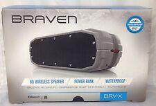 NEW!!! BRAVEN BRV-X Wireless Bluetooth Speaker [Waterproof] -  Gray