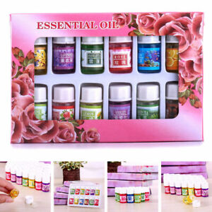 12Pcs Essential Oil Set Aromatherapy Gift Kit Pack 100% Pure Oils for Humidifier
