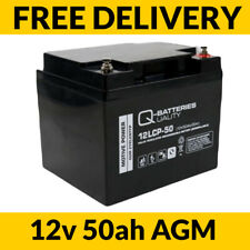 12v 50ah AGM Golf Mobility Scooter Wheelchair Battery 12LCP-50 Q-Batteries