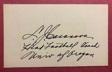 Leonard Casanova Autographed Card - College Football HOF - Oregon