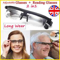 Adjustable Eyeglasses Glasses Variable Focus For Reading Distance Vision*F